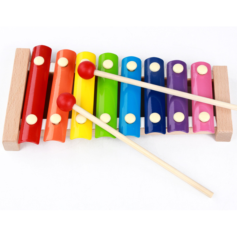 High Quality Wooden Octave Knock Piano Music for Children Preschool Toys Beat Xylophone Kids Best Gift(China (Mainland))