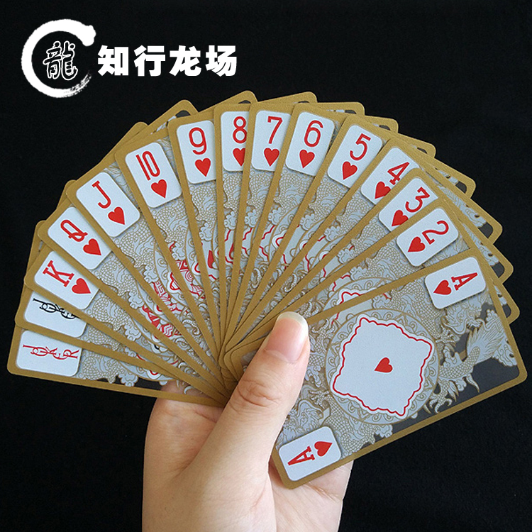Free Shipping !!! Cattle crystal poker gold transparent plastic poker gold foil poker 1set/lot<br><br>Aliexpress
