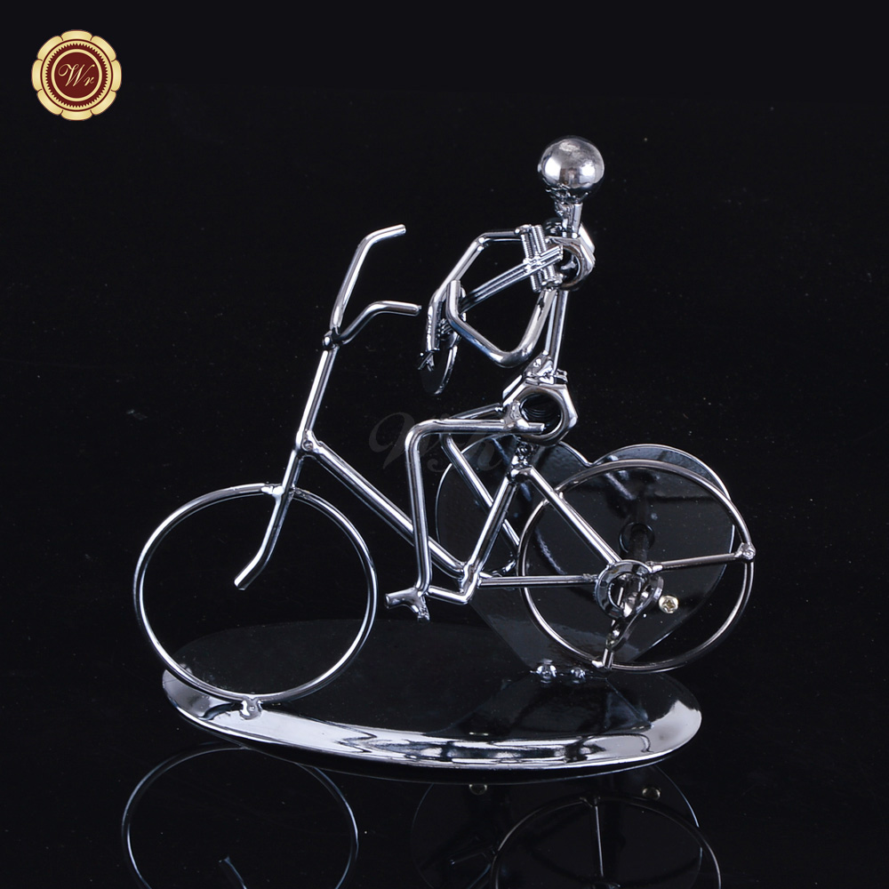 Metal Bicycle Model Man Playing The Electric Guitar Antique Style Collection Vintage Home Decor Desktop Decoration 15*8*15cm(China (Mainland))