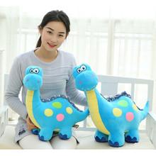 Cartoon Dinosaur Soft Plush Toys 3 Colors Kids Stuffed Animal Toy Doll 55cm Height Birthday Gift for Children(China (Mainland))