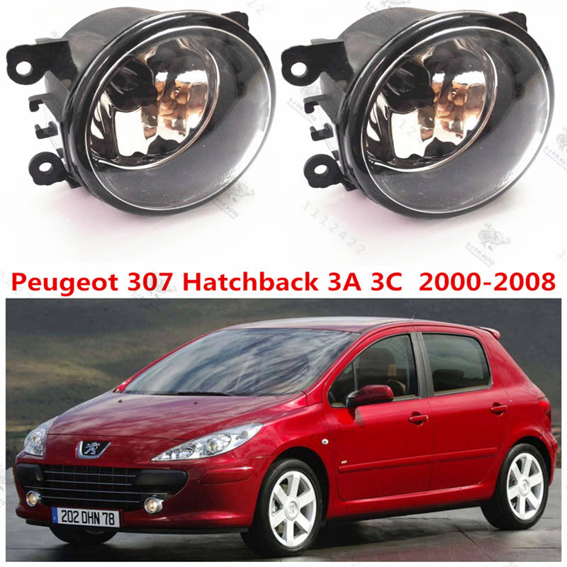 for peugeot 307 3a c 2000 2015 car styling fog lights front bumper fog lamps halogen 1 set 6206. Black Bedroom Furniture Sets. Home Design Ideas