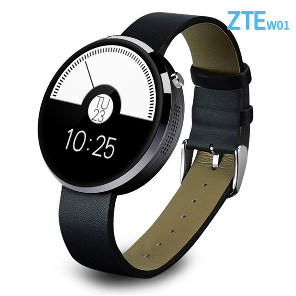 Energy Saving and Durable Exquisite Design Muti-function ZTE W01 Smart Watch Intelligent Page Turning Audio Recording(China (Mainland))