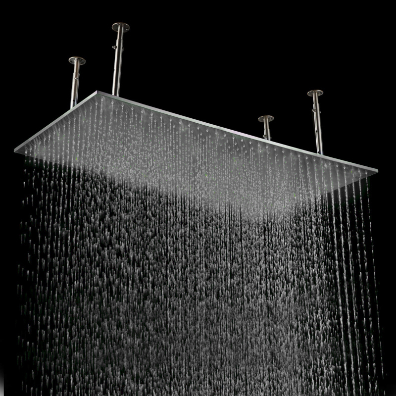 Fashion simple innovating products mirror surface ceiling rain shower 500*1000mm rectangular shower(China (Mainland))