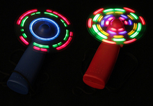LED Light Fan Portable Flexible  Light Up Toys fans one piece(China (Mainland))