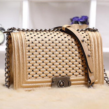 2016 New Fashion Women's Leather Handbag Party Casual Clutch Bag Quality Diamond Lattice PU Shoulder Messenger Bag Crossbody Bag