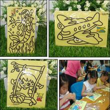 16*12cm Children Sand Painting Pictures Kids DIY Crafts Educational Toy Pattern Random Drawing Toys 1PC(China (Mainland))