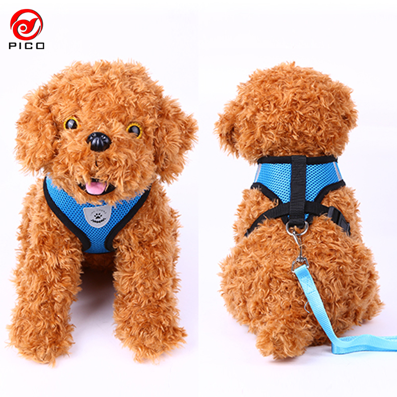 Cute Soft dog collar and leash set Plaid Pet Walking leader Cat service dog vest Harness dogs for sale ZL145-1(China (Mainland))