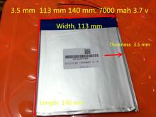 3.7V 35113140 battery dual core,gemei G6T,VI40 dual core,A11 Quad-Core,tablet pc battery 7000MAH SGR241