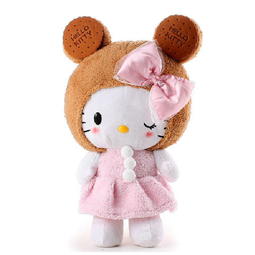 Valentine's Day gift New plush stuffed animal toy HELLO KITTY COOKIES STYLE SOFT adorable toy 48cm size 1pc Valentine's Day gift(China (Mainland))