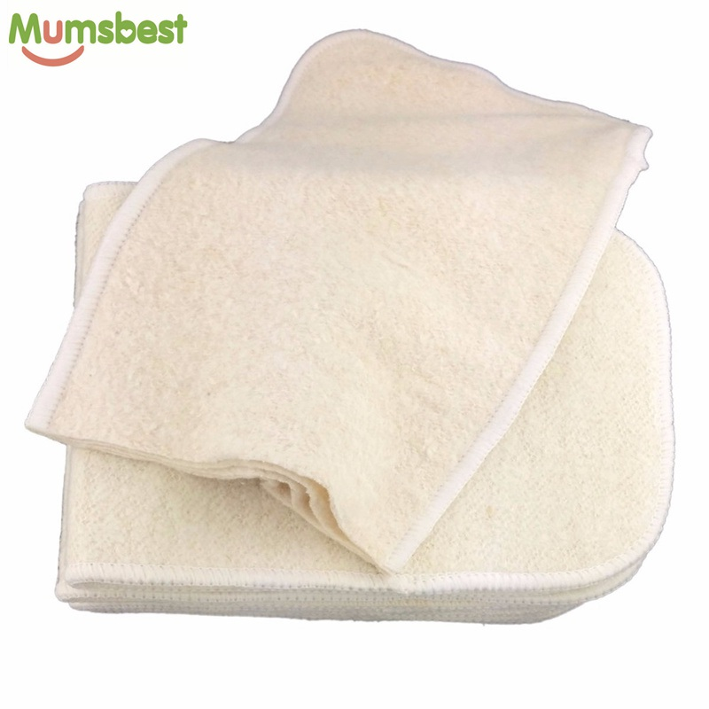 [Mumsbest]10pcs Hemp & Organic cotton Inserts 4 Layers Reusable Insert For Baby Cloth Diaper Babies Nappy Inserts Size: 14x35CM(China (Mainland))