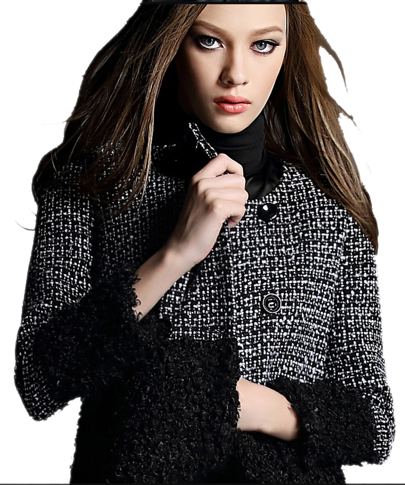 Spring Wool Womens Coat 2016 New Fashion O-Neck Female Short Overcoat Jackets and Coats Clothes Slim Black Outwear Hot SaleОдежда и ак�е��уары<br><br><br>Aliexpress