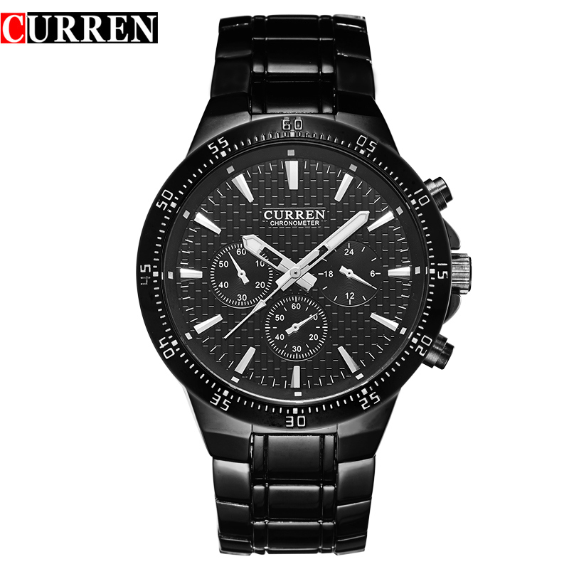 Curren Brand Relogios Hombre Hot Sale Full Steel Quartz Watch Man Business Wrist Watch Chronometer Male Clocks Mens Watches 2016(China (Mainland))