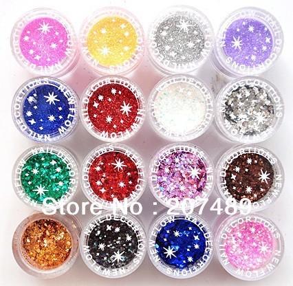 retail 16 Colors option Flocking bling shiny Powder Manicure Neon Nail Art Polish Nail Varnish art decorations care beauty