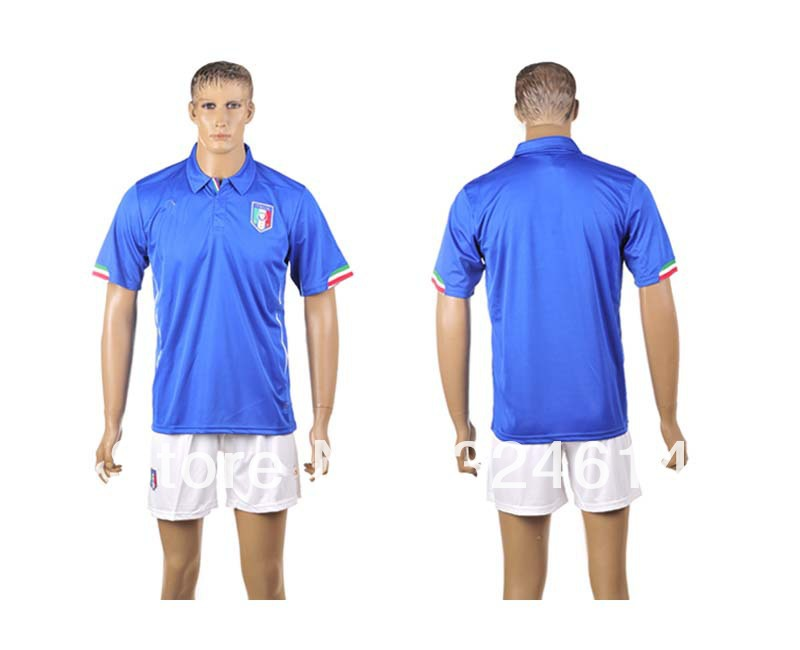 free shipping 2014 Italy home world cup soccer jerseys ,soccer shirt,soccer uniform,trainning jerseys 100% embroidery(China (Mainland))