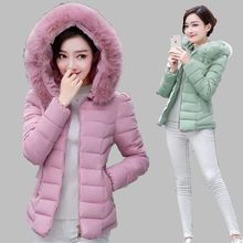 Fake Fur Collar Parka Down Cotton Jacket 2016 Winter Jacket WomenThicken Hooded Wear Coat Clothing Female Jackets Parkas G1753