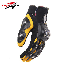 PRO-BIKER Men Motorcross Off-Road Full Finger Racing Gloves Motorcycle Riding Gloves Guantes Luvas Protection Hands Moto Gloves