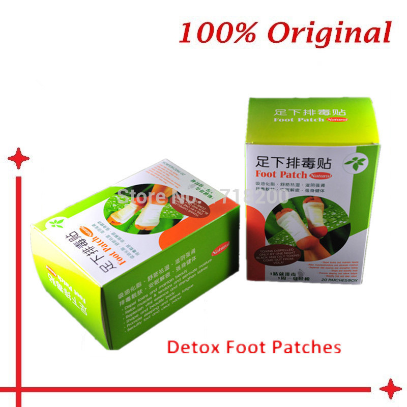 20 Pcs=1 Box Foot Detox patch /feet detoxing/ natural detoxinfication detoxing the body from feet cleanse your body waste(China (Mainland))