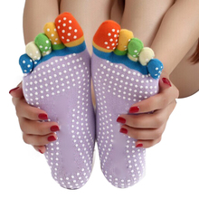 100% Brand New Sexy Women/Girl Summer style multi Color Yoga Exercise Sports Design Cotton 5 Toes Cotton Socks 1pc Quality first