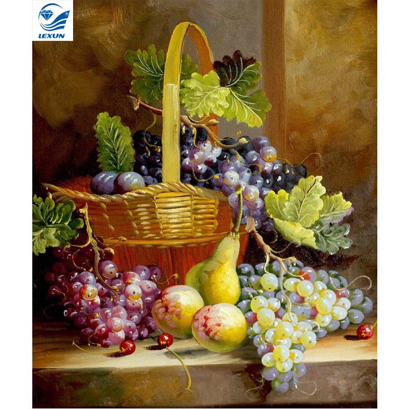 grapes diy diamond painting Handicraft home decoration cross stitch kits mosaic kit 5d diamond embroidery Fashion NW242