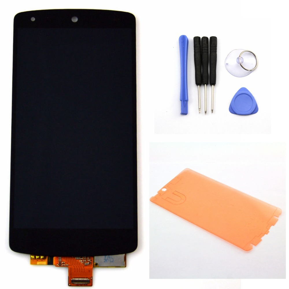 For LG Google Nexus 5 D820 D821 LCD Display Touch Screen with Digitizer Assembly + Tools + Adhesive , Black Free shipping !!!
