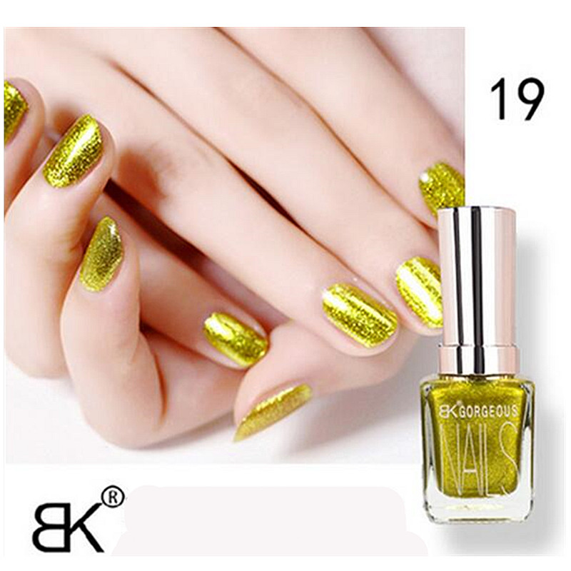 Gold Gel Nail Polish: 1pcs Bk Metallic Matte Gel Nail Polish Lasting Shine 15ML