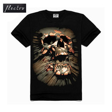 3D Printed Skull Brand New Fashion Mens T Shirts Cotton O Neck T-shirt Men Short Sleeve Shirt Mens Clothing Casual Tee Tops
