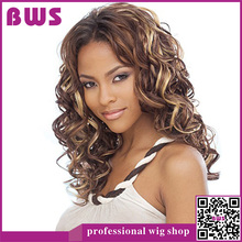 Synthetic Long Curly Brazilian Wig Blonde Anime Wig Ombre Wigs For Black Women Synthetic Long Curly Brazilian Wig(China (Mainland))
