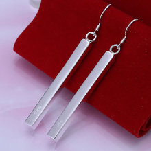 E002 Wholesale  silver earrings, silver fashion jewelry, Stripe Earrings /axhajooasfwholesale factory p(China (Mainland))