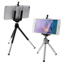 Portable Mini Cell Phone Camera Stand Clip Holder Mount Tripod For iPhone For Samsung For HTC Free Shipping
