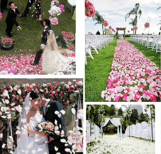 Artificial Petal 1000pcs Cheap Silk Rose Flower Petals Wedding Decorations Party Festival Table Confetti Decor 13 color(China (Mainland))