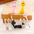 Cute Cartoon Cable Winder USB cable Managemen Organizer for iPhone cable MP3 MP4 PC earphone headphone