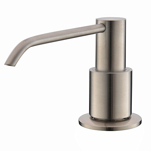 2016 New Wholesale Modern Solid Brass Brushed Nickle Kitchen Sink Countertop Liquid Dish Hand Soap Dispenser Pump Replacement(China (Mainland))