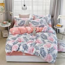 Deer Stripe 4pcs Girl Boy Kid Bed Cover Set Duvet Cover Adult Child Bed Sheets And Pillowcases Comforter Bedding Set 2TJ-61006(China)