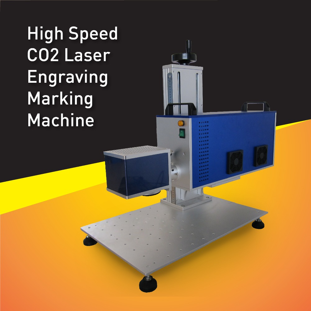 High Speed RF 30W CO2 non-metal laser marking machine adopt USA Synrad laser tube,can do accuracy engraving,Long Working Life(Hong Kong)