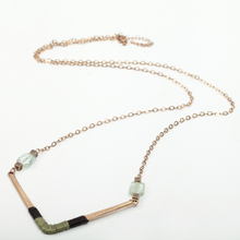 Buy Women Gold Alloy Triangle Pendant Necklace Vintage Metal Long Chain Green Stone Pendant Thread Wrap Collar Necklace Jewelry for $2.96 in AliExpress store