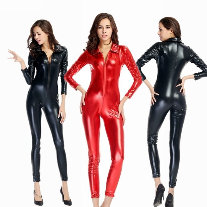 High Quality Red Leather Jumpsuit Promotion-Shop for High Quality ...