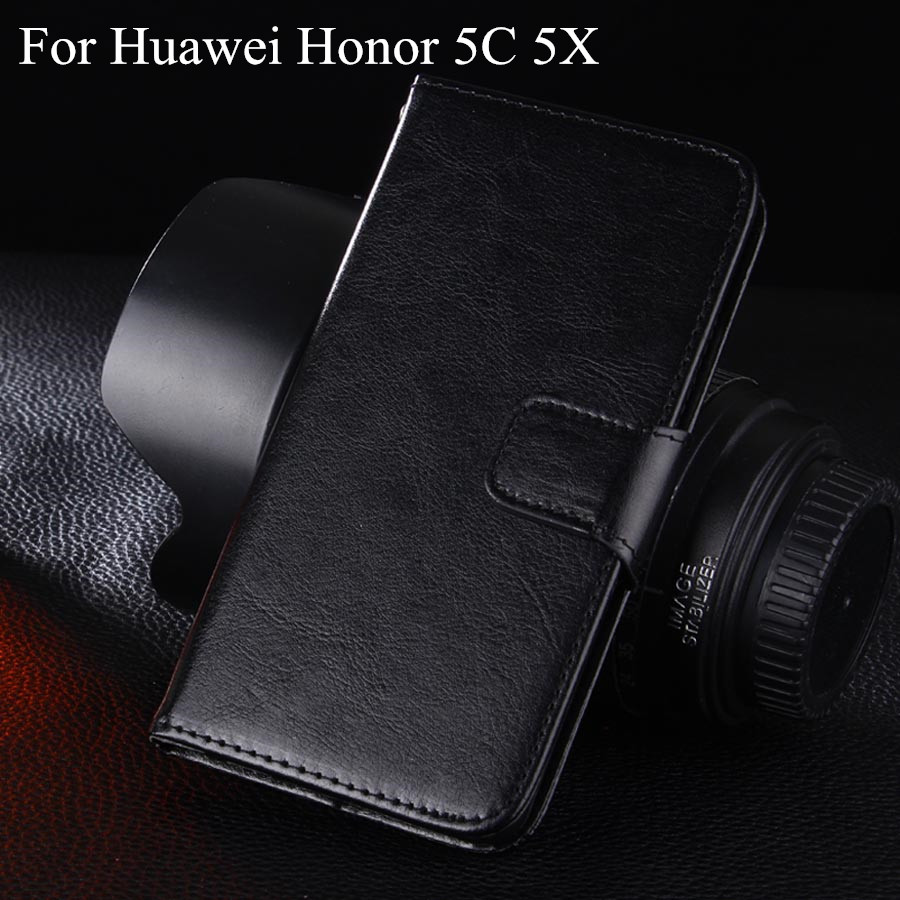Crazy Horse Flip Leather Cover Case Huawei Honor 5C 5X Mobile Phone Stander Function  -  Guangzhou Jie Fly Electronic Technology co., LTD store