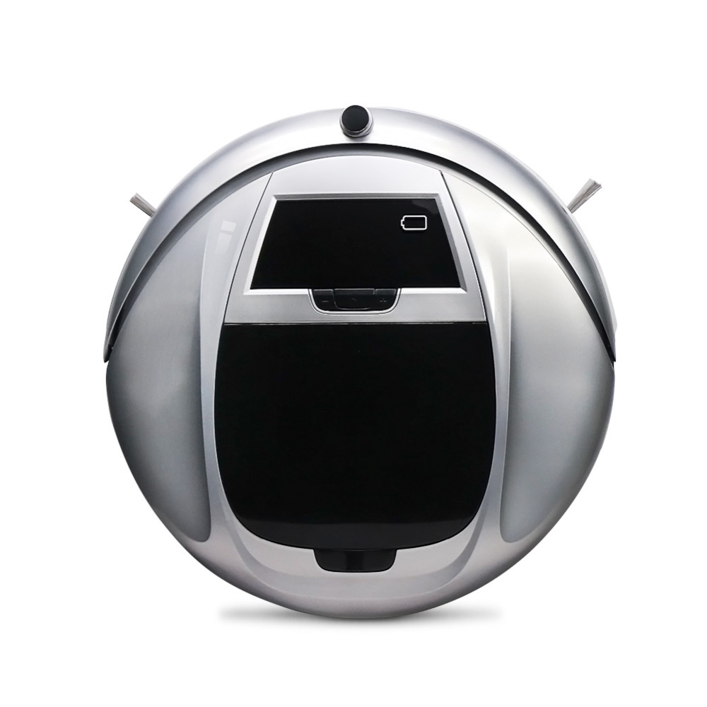 Built-in Samsung Li-ion Battery Robotic Vacuum Cleaner Remote Control Automatic Charging Robot Sweeper HEPA Filters LED Screen(China (Mainland))