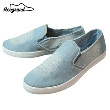 Men Washing Denim Canvas Men Causal Style 2016 Hot Sale Flat-with Slip-on Men's Fashion Breathable Canvas Shoes XMR1659(China (Mainland))