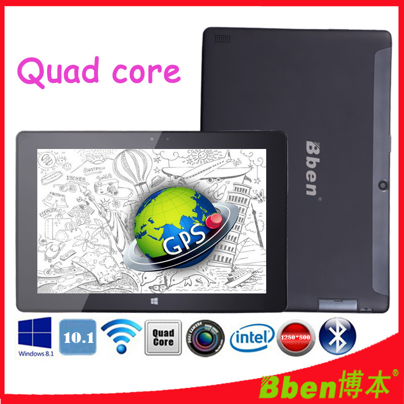 Free shipping ! 10.1 inch IPS windows business laptop dual camera quad core intel z3735d windows 8.1 tablet pc 3G GPS tablet pc(China (Mainland))