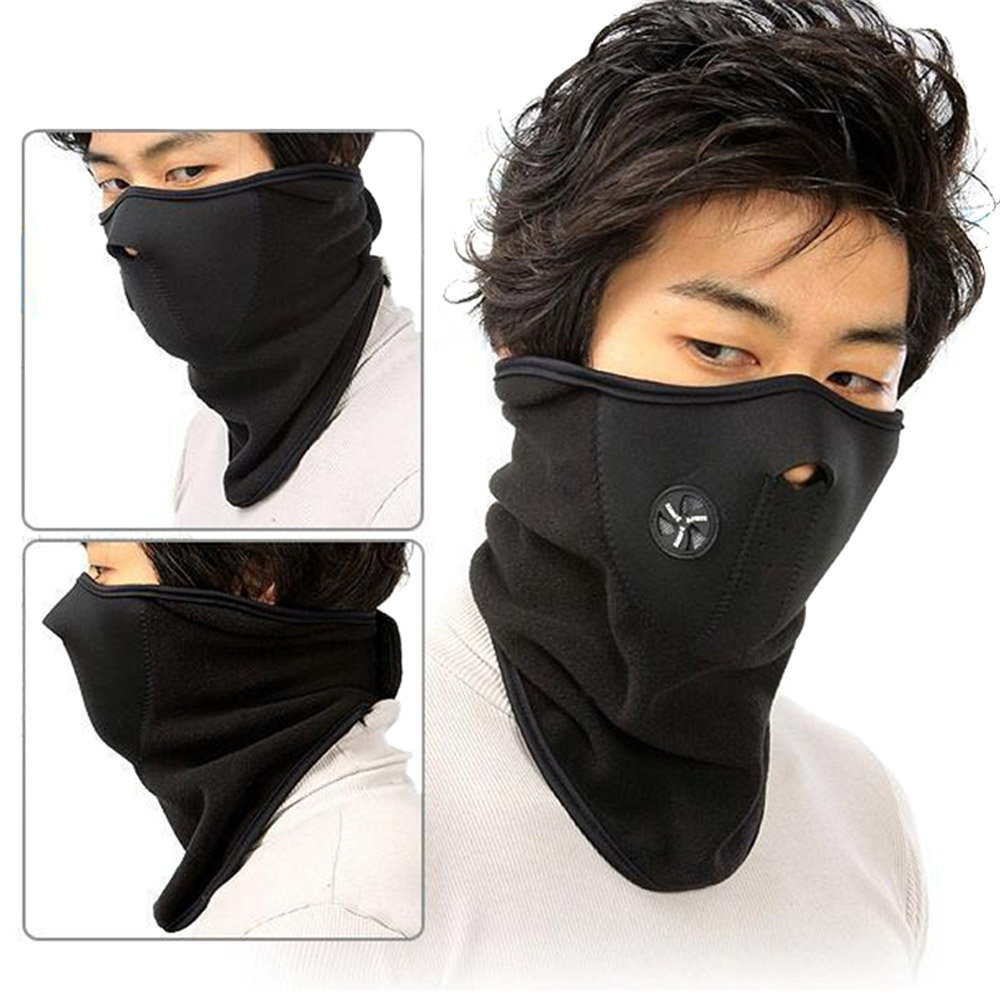 Fleece Bicyle Cycling Motorcycle Face Mask Winter Sports Ski Snowboard Hood Wind Stopper Cap Headwear Thermal Black(China (Mainland))