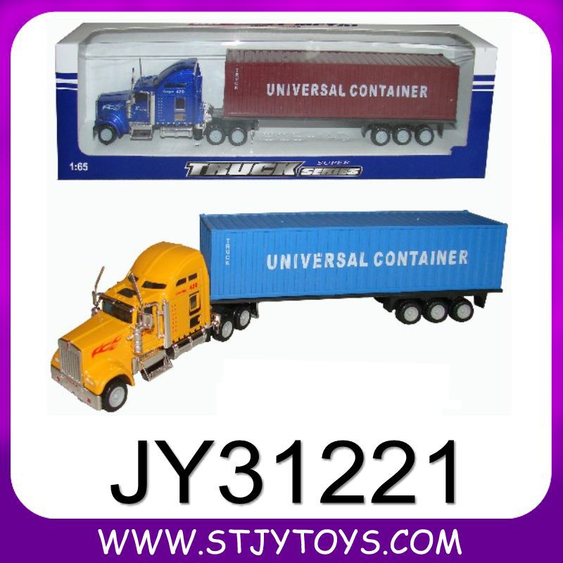 Customized design diecast toy truck with trailer(China (Mainland))