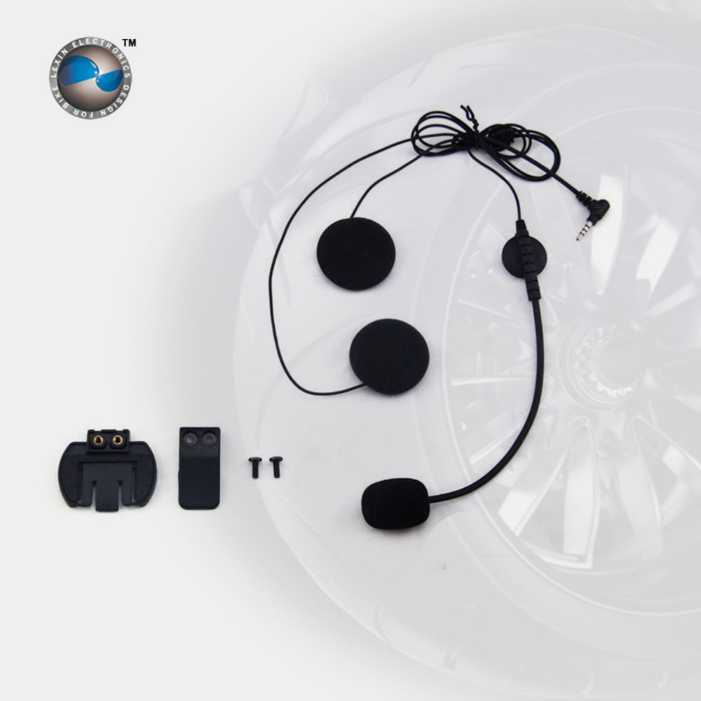 Headset & Clip Set Accessories for LX-R6 Bluetooth Helmet Interphone Intercom Jack Plug