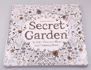 Секретный сад 96 страниц английского издания книжка-раскраска для детей взрослых снять стресс убийство срок граффити живопись рисунок книга