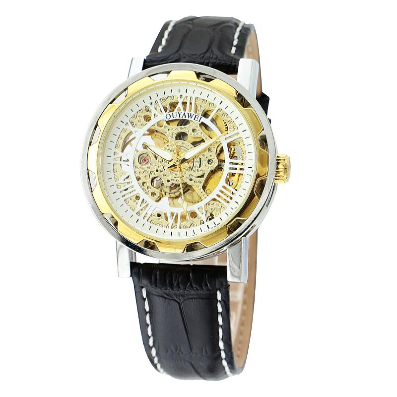 OYW Top Luxury Brand Military Wristwatch Waterproof Genuine Leather Strap Watches Men Mechanical Hand Wind Watch Male Clock/1221<br><br>Aliexpress