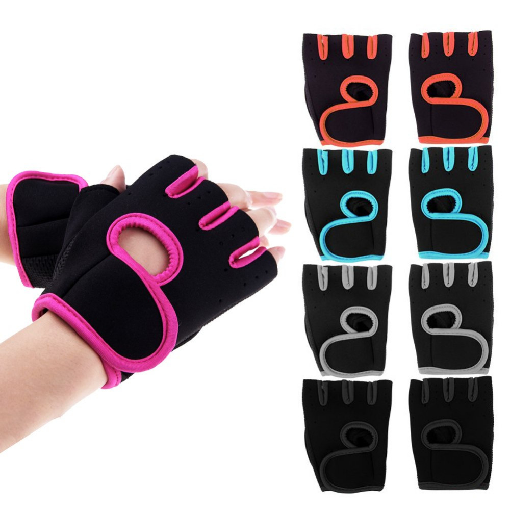 New GYM Weight Lifting Gloves Health Sports Cycling Exercise Fitness Dumbbell Half Finger Workout Gloves Size:M/L For Men Women(China (Mainland))