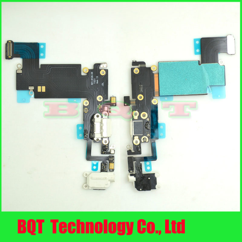 "For Apple iphone 6s plus 5.5"" USB Dock Connector Charging Port Flex Cable With Headphone Jack Microphone Free shipping(China (Mainland))"