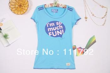 Free shipping foreign trade  stripe printed short sleeve T-shirt for women,hardanger round neck short sleeve modal T-shirt