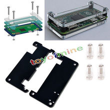 Original New Acrylic Case Protective Cover Kit Enclosure Housing Box For Raspberry Pi Zero B+ Free Shipping(China (Mainland))