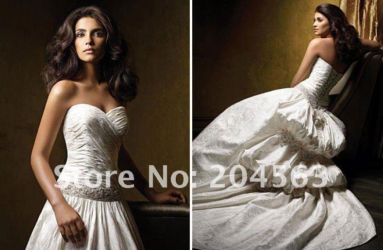 Free shipping best selling handmade flower designer for Best selling wedding dresses